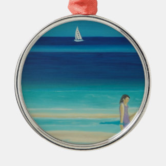 On the beach. christmas ornament