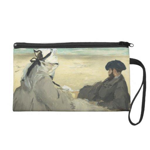 On the Beach - Edouard Manet Wristlet