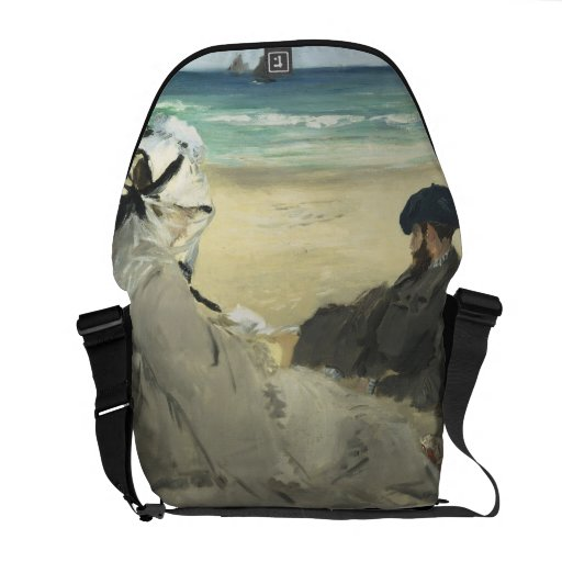 On the Beach - Edouard Manet Courier Bags
