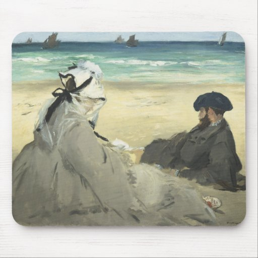 On the Beach - Edouard Manet Mouse Pad