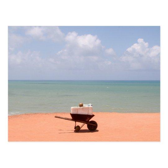 On the Beach in Natal/Brazil Postcard