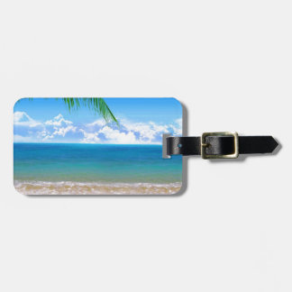 on the beach luggage tag