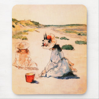 On the Beach. Mother's Day Fine Art Gift Mousepads