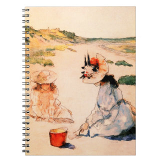 On the Beach. Mother's Day Fine Art Gift Notebooks