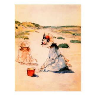 On the Beach. Mother's Day Fine Art Postcards