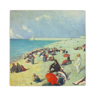 On The Beach Wood Coaster