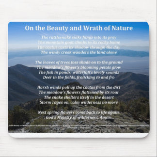 On the Beauty and Wrath of Nature Mousepad