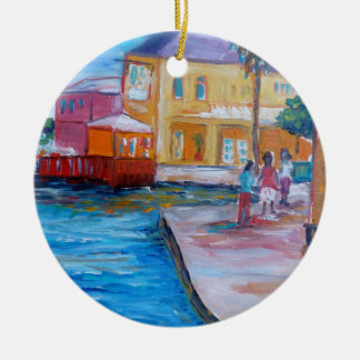 On the Board walk Christmas Ornament