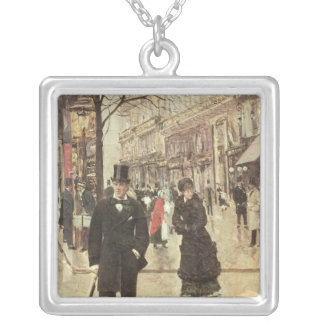 On the Boulevard Silver Plated Necklace