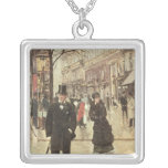 On the Boulevard Square Pendant Necklace
