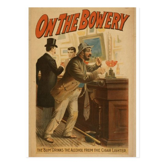 On the Bowery Postcard