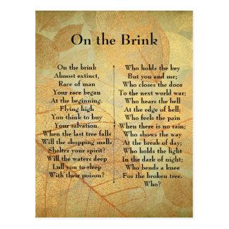 On the Brink Poem Postcard