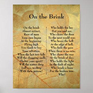 On the Brink Poem Poster