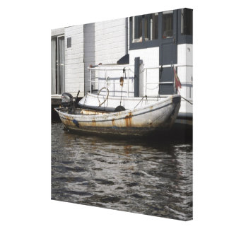 On the canals of Amsterdam Stretched Canvas Prints