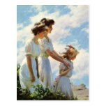 On the Cliff by Charles Courtney Curran Post Cards