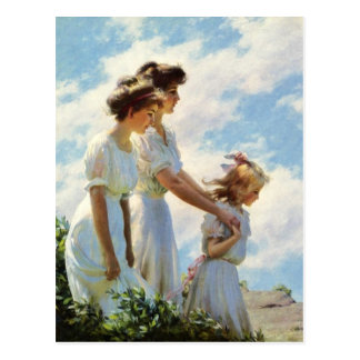 On the Cliff by Charles Courtney Curran Postcard
