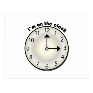 On The Clock Postcards