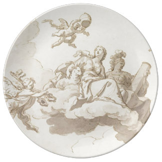 On the clouds plate