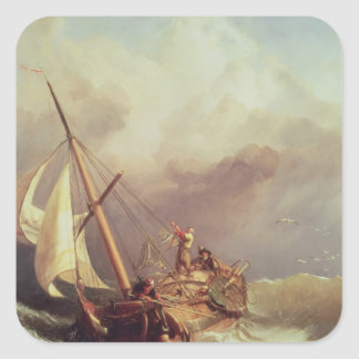 On the Dogger Bank, 1846 Square Sticker