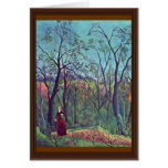 On The Edge By Rousseau Henri Greeting Card