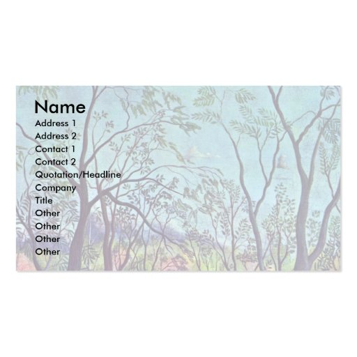 On The Edge By Rousseau Henri Pack Of Standard Business Cards
