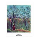 On The Edge By Rousseau Henri Postcard