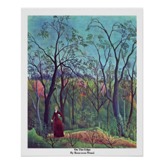 On The Edge By Rousseau Henri Poster