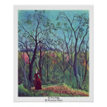 On The Edge By Rousseau Henri Posters