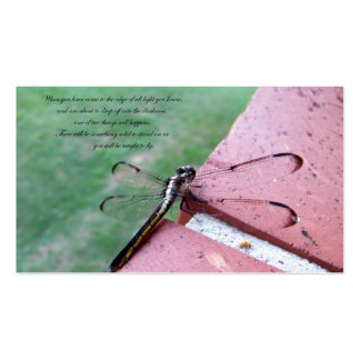 On the Edge Dragonfly Business Cards w/verse