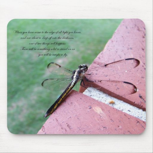 On the Edge Dragonfly Mousepad w/verse