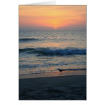On The Edge of Sunset II Greeting Card