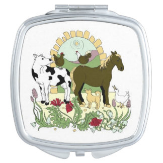 On the Farm Mirror Compact Compact Mirrors
