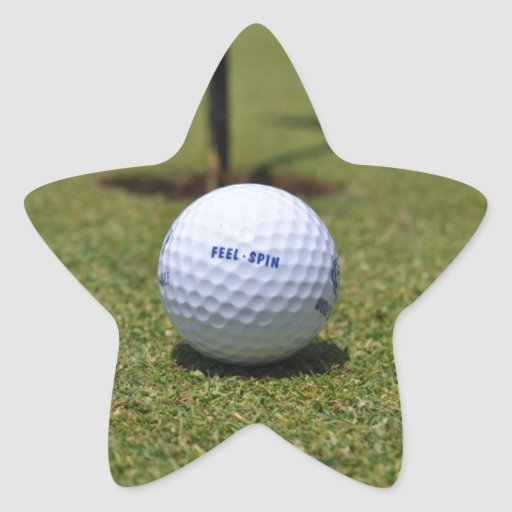 On the Golf Course Star Stickers