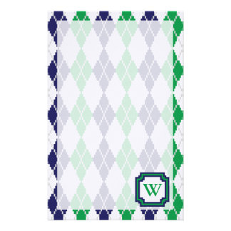 On the Green Argyle Stationery