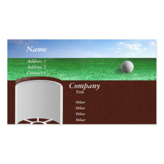 On the green pack of standard business cards