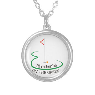 On the Green Round Pendant Necklace