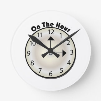 On The Hour Round Wallclocks