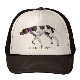On the hunt English Pointer dog hat, gift idea