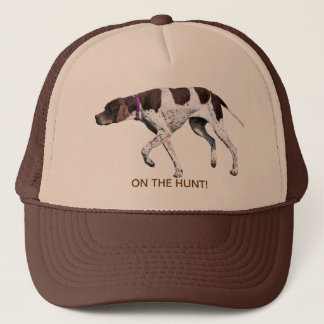 On the hunt English Pointer dog hat, gift idea Trucker Hat