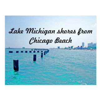 On The Lake in Blue-Greenish Hues Postcard