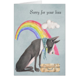 On the loss of a pet dog card