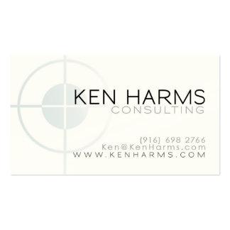 On The Mark card Business Card