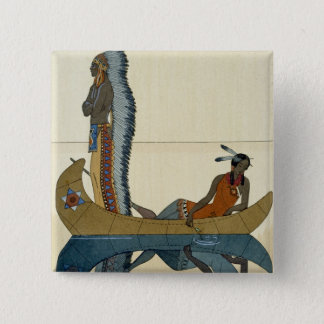 On the Missouri, 1922 (pochoir print) 15 Cm Square Badge