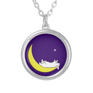 ON THE MOON SILVER PLATED NECKLACE