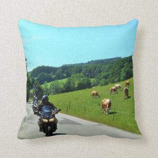 On the motorbike trough Austria 01 Throw Pillow