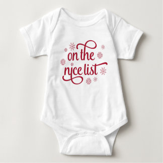On the Nice List | Christmas Baby Baby Bodysuit