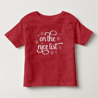 On the Nice List   Christmas Toddler T-Shirt