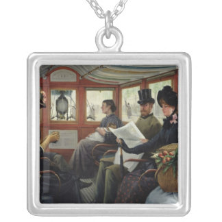 On the Omnibus, 1880 Silver Plated Necklace