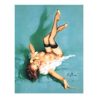 On the Phone - Vintage Pin Up Girl 21.5 Cm X 28 Cm Flyer