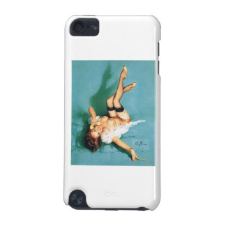 On the Phone - Vintage Pin Up Girl iPod Touch (5th Generation) Cases